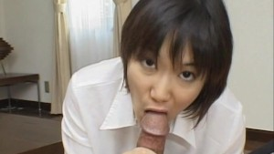 Alluring And Kinky Japanese Cutie Giving Head Seductively