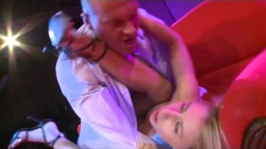 threesome fuck on public stage