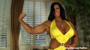 Aziani Iron Angela Salvagno female bodybuilder get naked