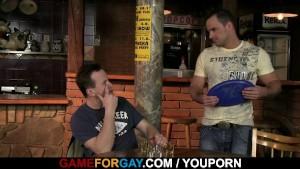 He seduces straight bartender into gay sex