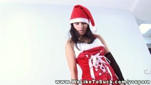 Mrs Santa loves to suck strang