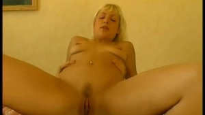 Hot blonde fucks a guy in her
