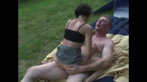 Camping couple have some fucki