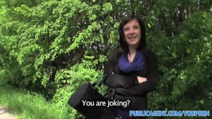 PublicAgent Innocent young woman fucked in the bushes
