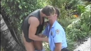 Gay Cop Smoker fucks a hot man