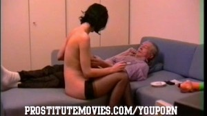 Old man maximum relaxation with escort