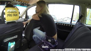 Czech Taxi Blonde TEEN gets ri