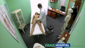 FakeHospital Slim skinny young student cums in for check up gets the doctors creampie