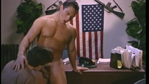 Saluting your superior with your cock - Stallion Video
