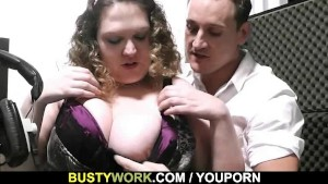 He bangs curly fatty at work