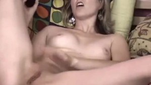 She is fingering and toying he