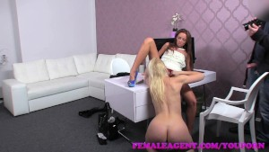 FemaleAgent Stunning blonde is