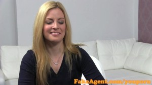 FakeAgent Super hot blonde loves big cock