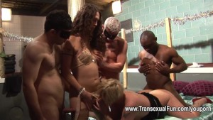 Amateur orgy with shemale fema