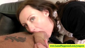 Mature stockings getting licked before pussy fucked