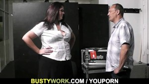 BBW rides his meat at work