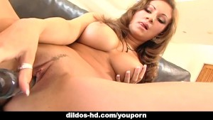 Alluring gal Amy Ried fucks herself with a dildo