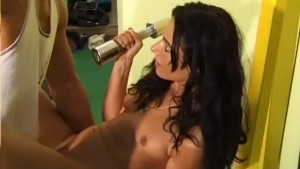 Horny Brunette Works Out By Sucking A Huge Cock - Telsev