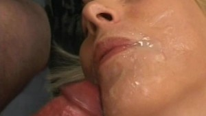 Blonde amateur girlfriend home gangbang with facials