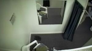 Hidden camera in fitting room