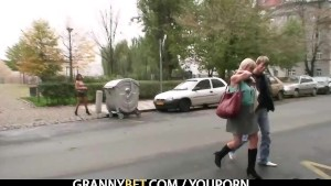 Granny prostitute pleases him