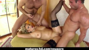 MILF blonde Luciana takes on t