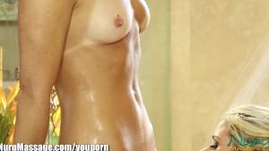 Nuru Massage aggressive MILF's Lesbian Pussy Licking