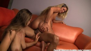 Hot Mom and Daughter Fucked By Big Cock