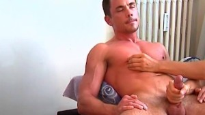 Sport trainer gets wanked by us for a porn video.