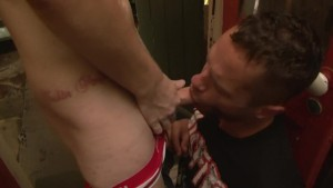 Gagged and throat fucked - Factory Video