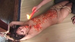 Hot wax and toying action for a hottie