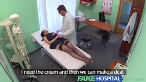 FakeHospital No health insurance causes shy patient to pay for treatment with wanking blowjobs and fucking