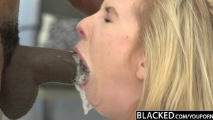 BLACKED Skinny Blonde Teen Stretched by Big Black Dick