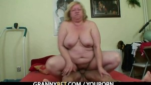 Big titted granny tastes yummy