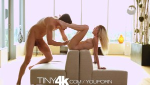T4K Tiny blonde teen s pussy pounded by big dick in 4K