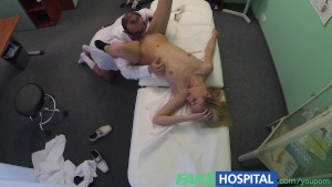 FakeHospital Blonde tourist gets a full examination