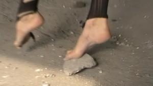Barefoot Nylon Girl