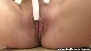 Rebecca Dildos Both Of Her Holes