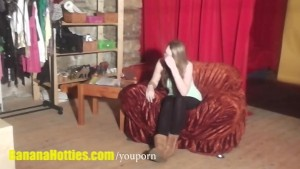 Shy hottie at her first CASTING ever