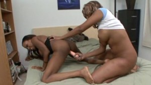 Ebony sorority girls play with toys