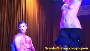 hot lapdance on public stage