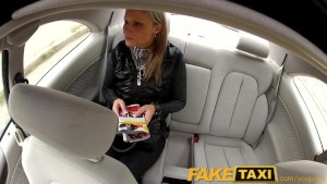 FakeTaxi Blonde babe fucked in