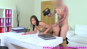FemaleAgent Cameraman stands in when casting hits erection issues