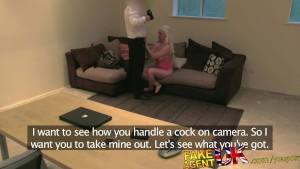 FakeAgentUK Sexy blonde amateur orgasms on agents cock