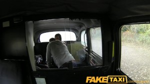 Faketaxi busty brunette does it all for cash