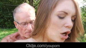 Retired grandpa gets laid with