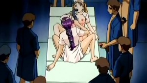 Lesbian hentai action with toys