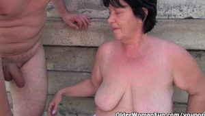 Grannies and milfs love giving head and getting fucked outdoors