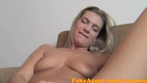 FakeAgent Fit Blonde amateur goes all the way in Casting