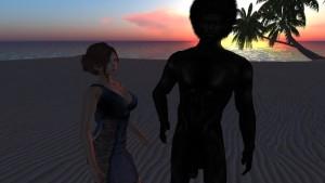 Margot Tourenne du Plessis fait passer son entretien d embauche à Lailai sur une plage deserte